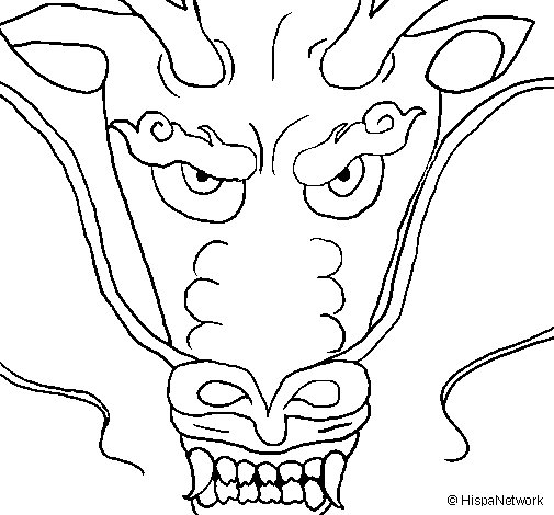 Dragon's head coloring page