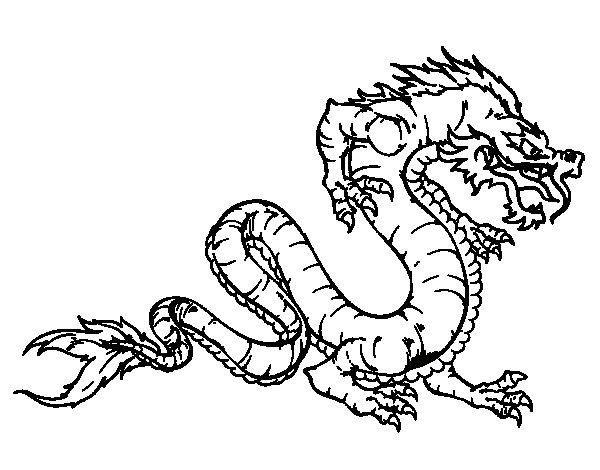 Dragon walking coloring page Coloringcrewcom