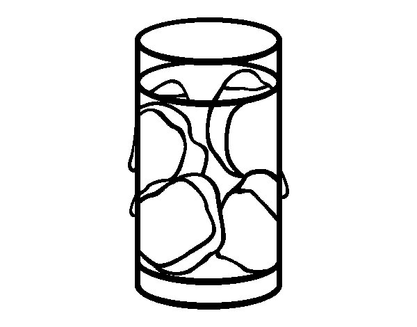 Drink with ice coloring page