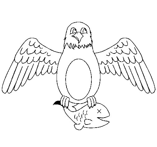 Eagle hunting coloring page