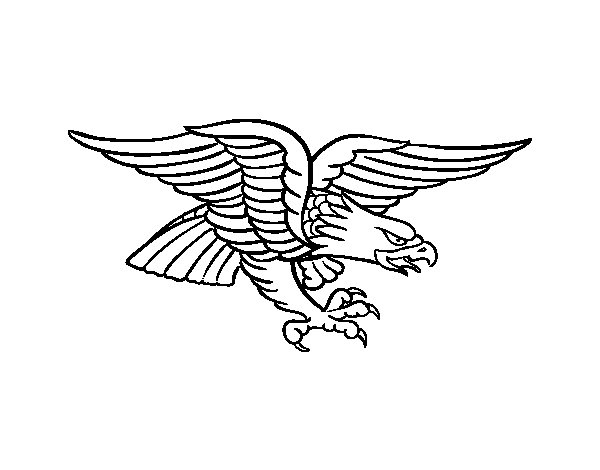Eagle tattoo coloring page