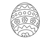 Easter egg DIY coloring page