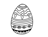 Easter egg to decorate coloring page