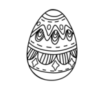 Easter egg with diamonds coloring page