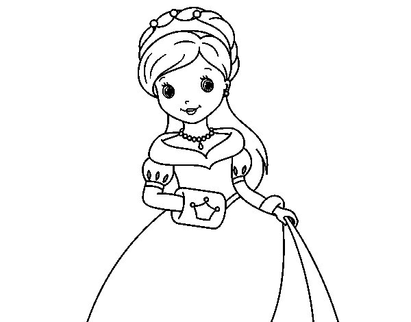 Elegant Princess coloring page