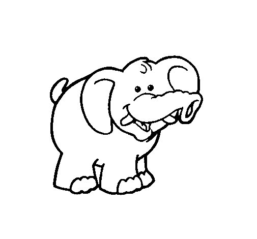 Elephant 3 coloring page