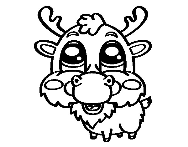 Elk face coloring page