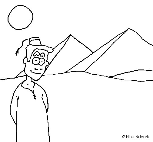 Epypt coloring page