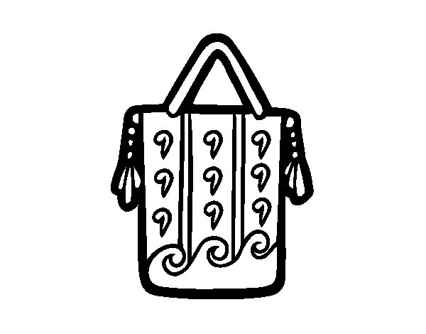 Ethnic bag coloring page