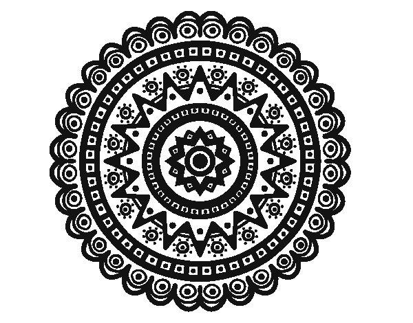 Ethnic mandala coloring page