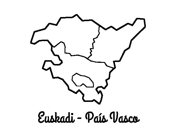 Euskadi - Basque Country coloring page