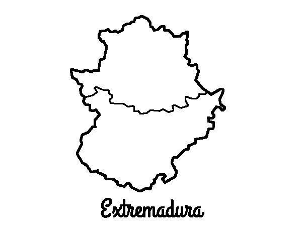 Extremadura coloring page