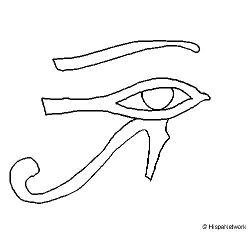 Eye of Horus coloring page
