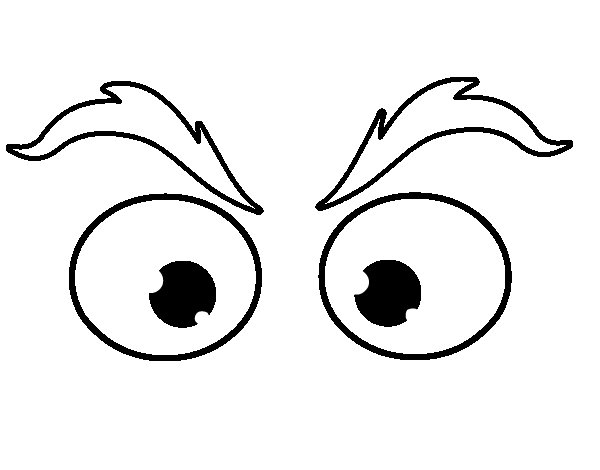 Eyebrows coloring page