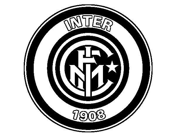 F.C. Internazionale Milano crest coloring page