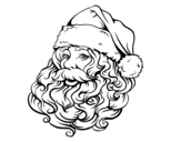 Dibujo de Face of Santa Claus for Christmas