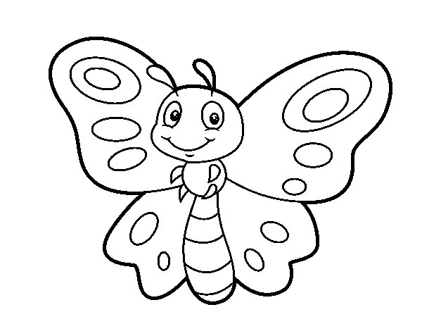 Fantasy butterfly coloring page