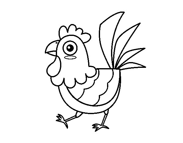 Farm hen coloring page
