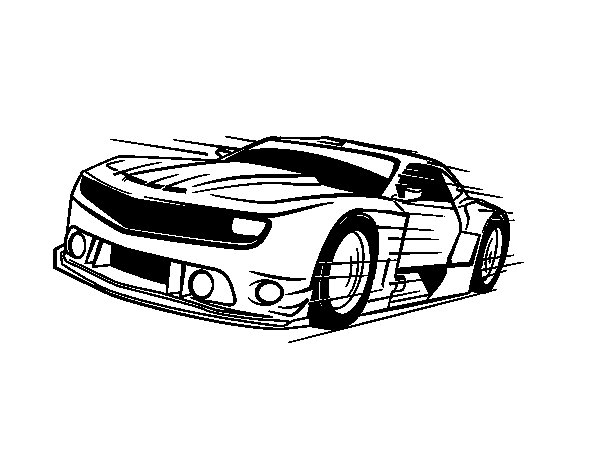 Fast sports car coloring page