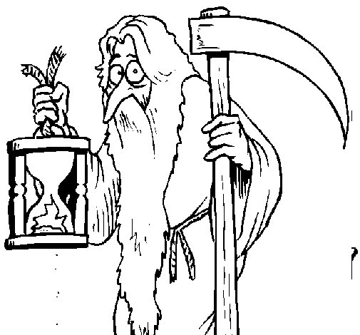 Father Time coloring page