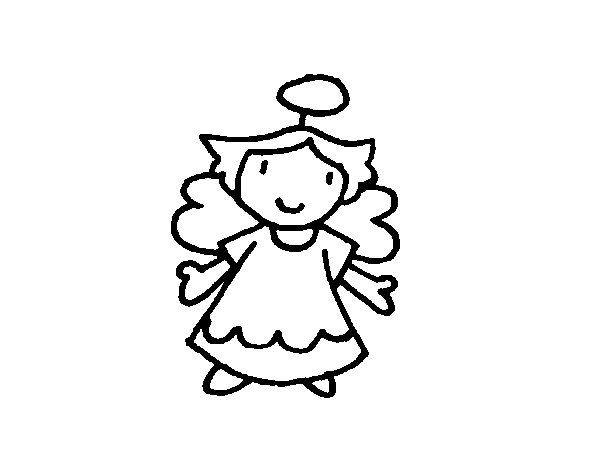 Female angel coloring page