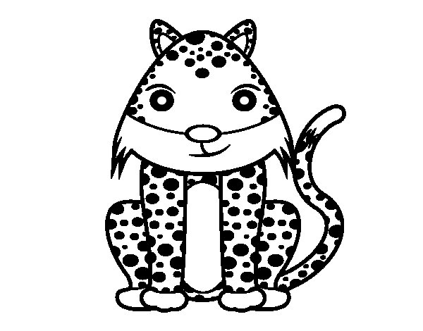 Female cheetah coloring page
