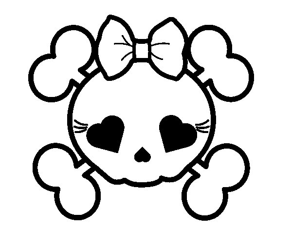 Female skull coloring page  Coloringcrewcom