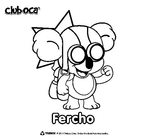 Fercho coloring page