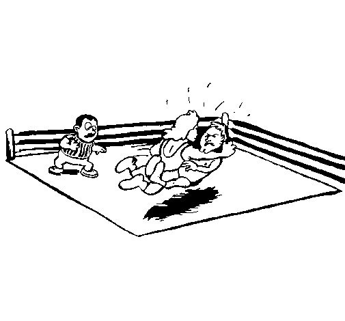 Fighting in the ring coloring page