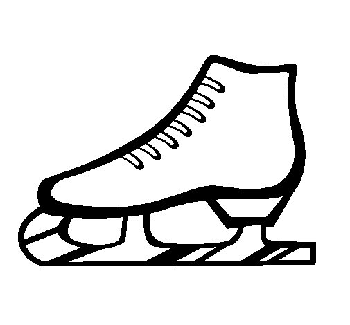 Figure skate coloring page