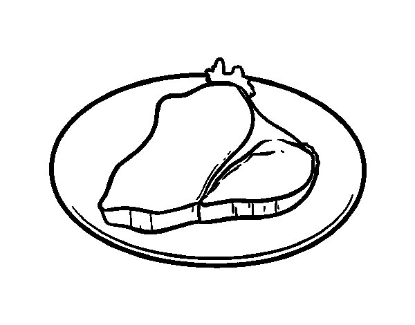 Fillet Steak coloring page