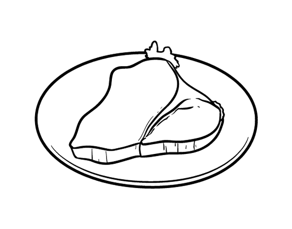 fillet steak coloring page coloringcrewcom
