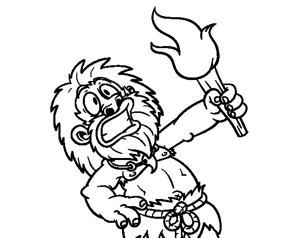 Fire! coloring page