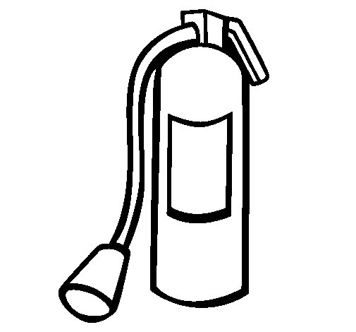 Fire extinguisher coloring page Coloringcrewcom