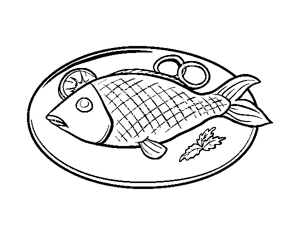 fish plate coloring page coloringcrewcom