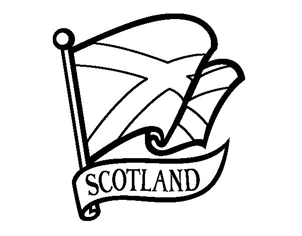 Flag of Scotland coloring page Coloringcrewcom