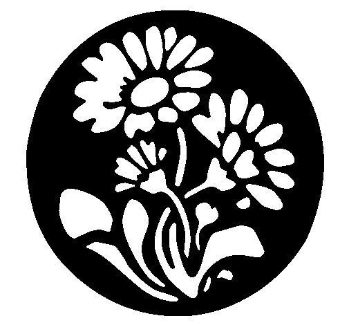 Floral print coloring page