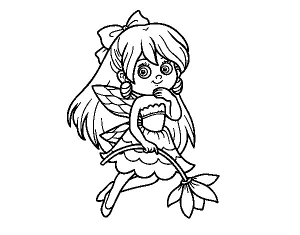Flower Fairy coloring page