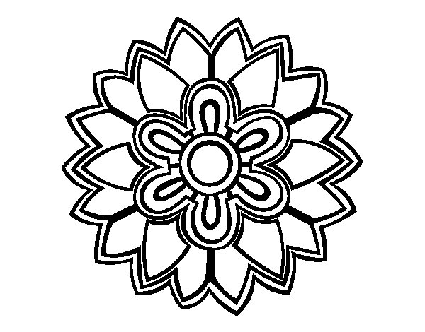 Flower Mandala Shaped Weiss Coloring Page Coloringcrewcom
