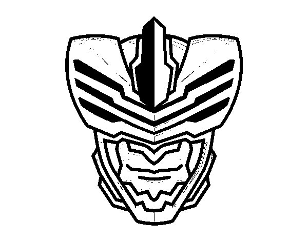 Fly man mask coloring page