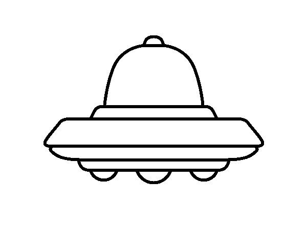 Flying UFO coloring page