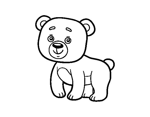 Forest Teddy bear coloring page