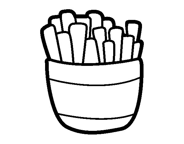 Fried potatoes coloring page