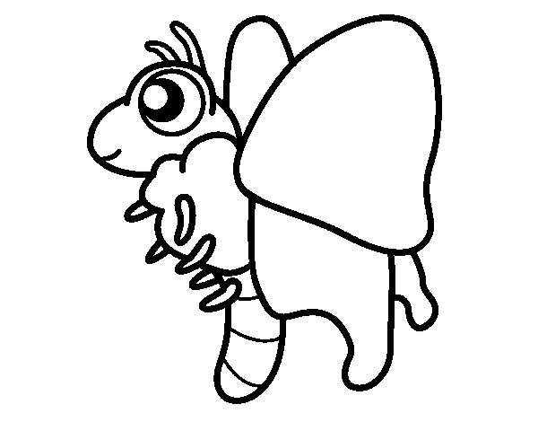 Fun butterfly coloring page