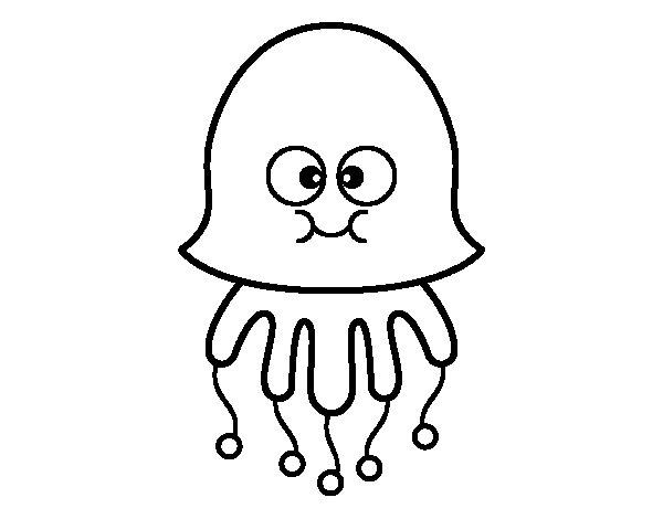 Fun Jellyfish coloring page