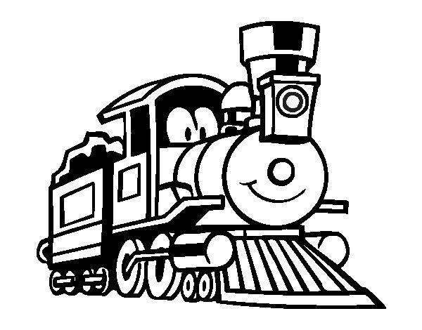 Fun train coloring page