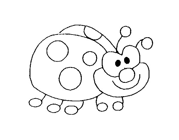 Funny ladybird coloring page