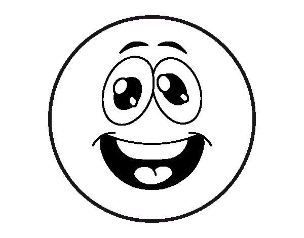 Funny Smiley Coloring Page Coloringcrew Com Smiley Coloring Page