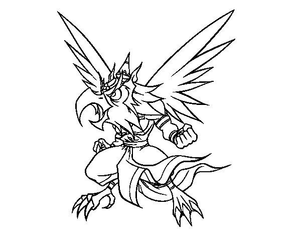 Garuda coloring page