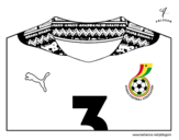Ghana World Cup 2014 t-shirt coloring page